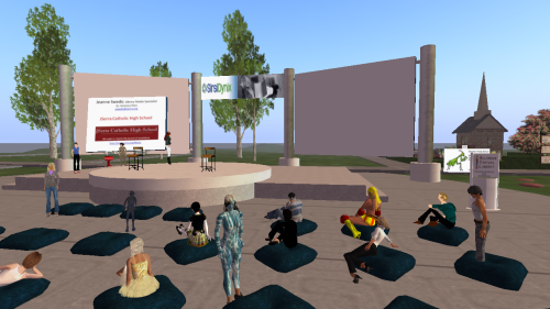Information Literacy Class in Open Air Auditorium